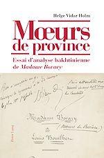 Download this eBook Mœurs de province