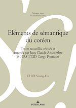 Download this eBook Eléments de sémantique du coréen
