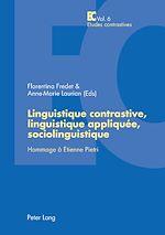 Download this eBook Linguistique contrastive, linguistique appliquée, sociolinguistique