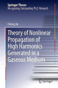 Theory of Nonlinear Propagation of High Harmonics Generated in a Gaseous Medium