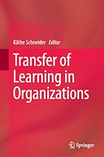 Download this eBook Transfer of Learning in Organizations