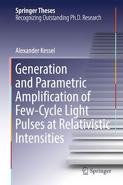Generation and Parametric Amplification of Few-Cycle Light Pulses at Relativistic Intensities