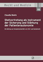 Download this eBook Stellvertretung als Instrument der Sicherung und Staerkung der Patientenautonomie