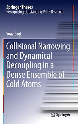 Collisional Narrowing and Dynamical Decoupling in a Dense Ensemble of Cold Atoms