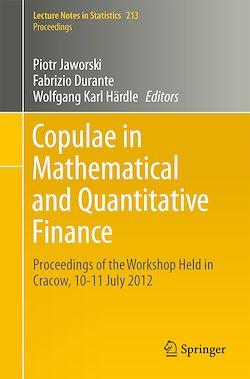 Copulae in Mathematical and Quantitative Finance