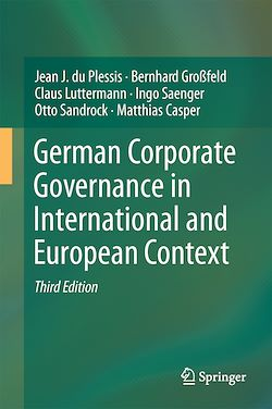 German Corporate Governance in International and European Context