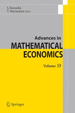 Advances in Mathematical Economics Volume 13