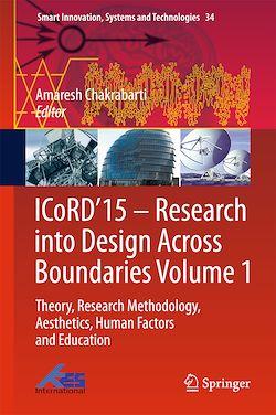 ICoRD'15 – Research into Design Across Boundaries Volume 1