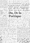 Télécharger le livre :  Du, De la Poétique