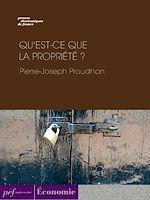 Download this eBook Qu'est-ce que la propriété ?
