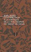 Télécharger le livre :  Contribution à la critique de la philosophie du droit de Hegel
