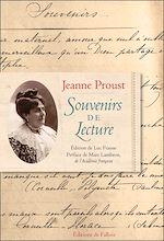 Download this eBook Souvenirs de lecture