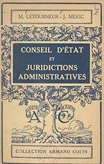 Download this eBook Conseil d'État et juridictions administratives