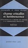Télécharger le livre :  Champ cristallin et luminescence