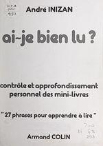 Download this eBook Ai-je bien lu ?