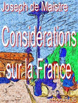Téléchargez le livre numérique:  Considérations sur la France