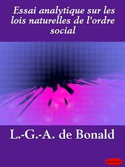 Téléchargez le livre numérique:  Essai analytique sur les lois naturelles de l'ordre social