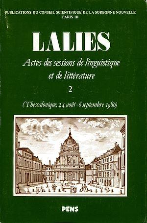 Téléchargez le livre :  Lalies 02