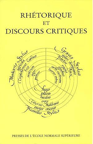 Téléchargez le livre :  Rhétorique et discours critiques