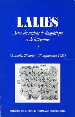 Téléchargez le livre :  Lalies 07