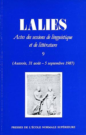 Téléchargez le livre :  Lalies 09