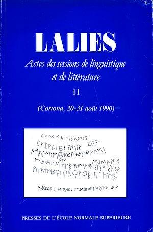 Téléchargez le livre :  Lalies 11