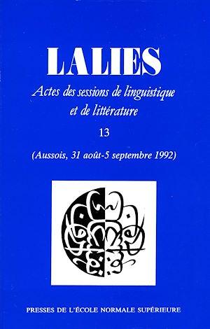 Téléchargez le livre :  Lalies 13