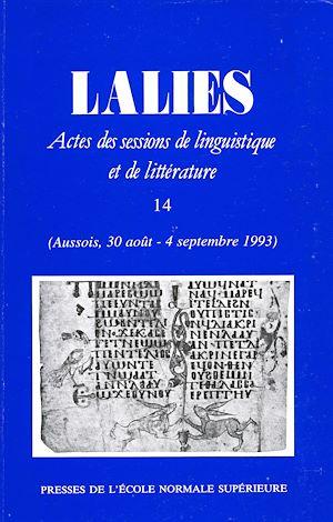 Téléchargez le livre :  Lalies 14
