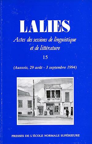 Téléchargez le livre :  Lalies 15