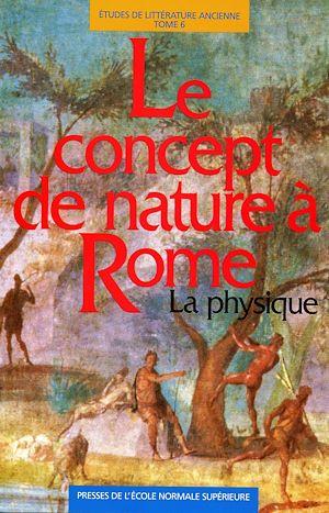 Téléchargez le livre :  Le concept de nature à Rome