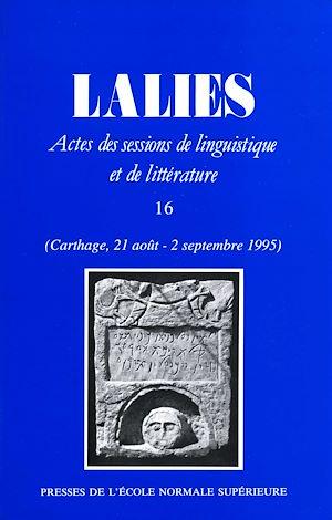 Téléchargez le livre :  Lalies 16