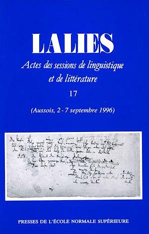 Téléchargez le livre :  Lalies 17