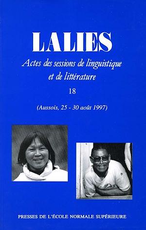 Téléchargez le livre :  Lalies 18