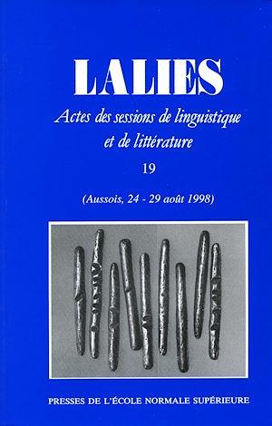 Téléchargez le livre :  Lalies 19