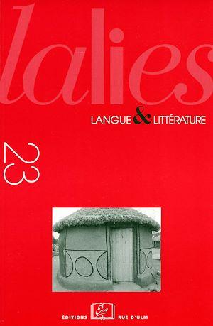 Téléchargez le livre :  Lalies 23