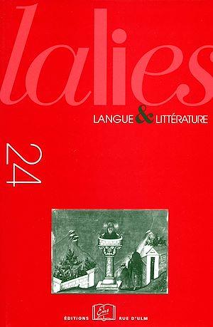 Téléchargez le livre :  Lalies 24