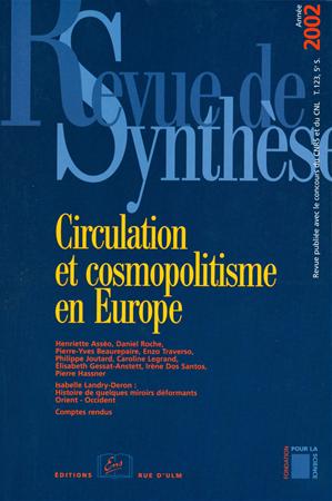 Téléchargez le livre :  Circulation et cosmopolitisme en Europe