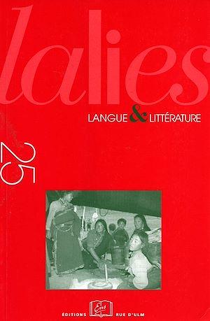 Téléchargez le livre :  Lalies 25