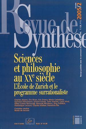 Téléchargez le livre :  Sciences et philosophie au XXe siècle- L'École de Zurich et le programme surrationaliste