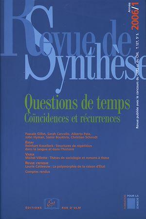 Téléchargez le livre :  Questions de temps - Coïncidences et récurrences