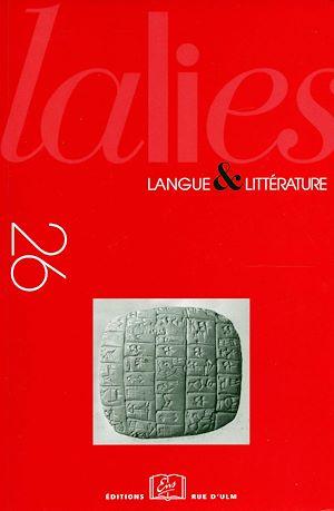 Téléchargez le livre :  Lalies 26