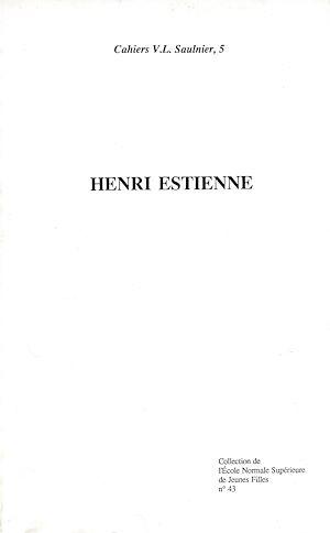 Téléchargez le livre :  Henri Estienne