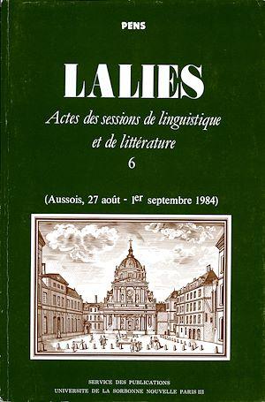 Téléchargez le livre :  Lalies 06