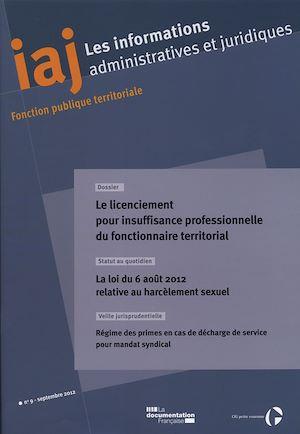 Téléchargez le livre :  Le licenciement pour insuffisance professionnelle du fonctionnaire territorial
