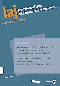 Télécharger le livre : Compte personnel d'activité, formation, santé et sécurité au travail dans la fonction publique : ordonnance du 19 janvier 2017 et décret du 6 mai 2017