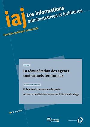 Téléchargez le livre :  IAJ : La rémunération des agents contractuels territoriaux - Juin 2019