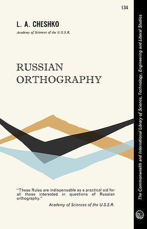 Téléchargez le livre :  Russian Orthography