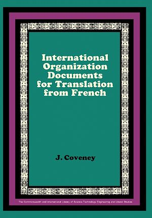 Téléchargez le livre :  International Organization Documents for Translation from French