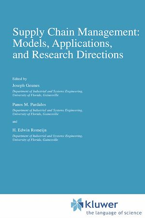 Téléchargez le livre :  Supply Chain Management: Models, Applications, and Research Directions