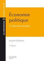 Télécharger cet ebook : Économie politique - Tome 3 - Macroéconomie